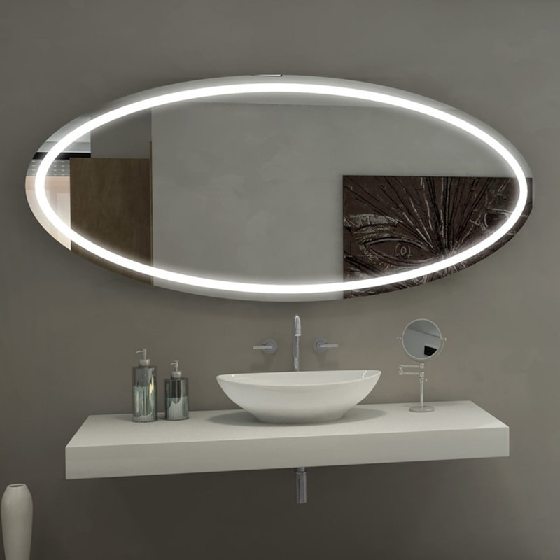 Illuminated Oval | Paris Mirror